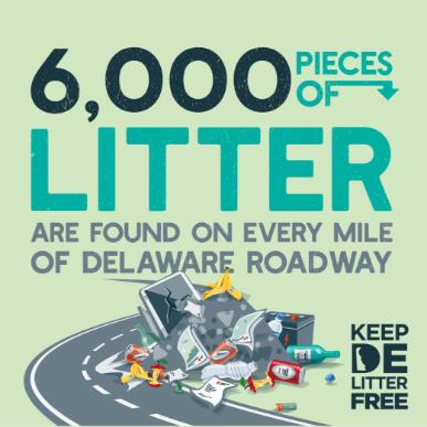 Litter dump statistic graphic