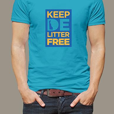 DE Litter Free shirt, front