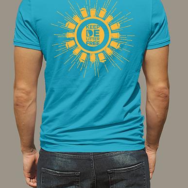 DE Litter Free shirt, back