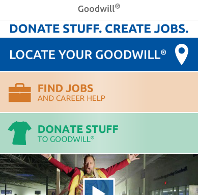 Goodwill App Homescreen