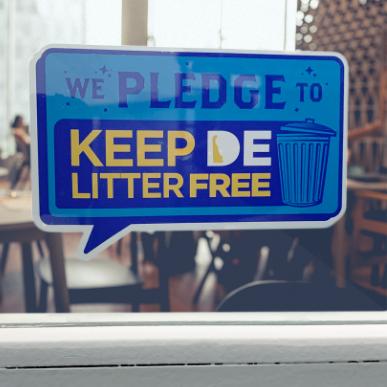 DE Litter Free Pledge sticker