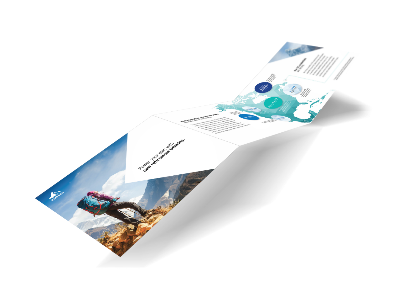 Elaborate tri-folding print handout