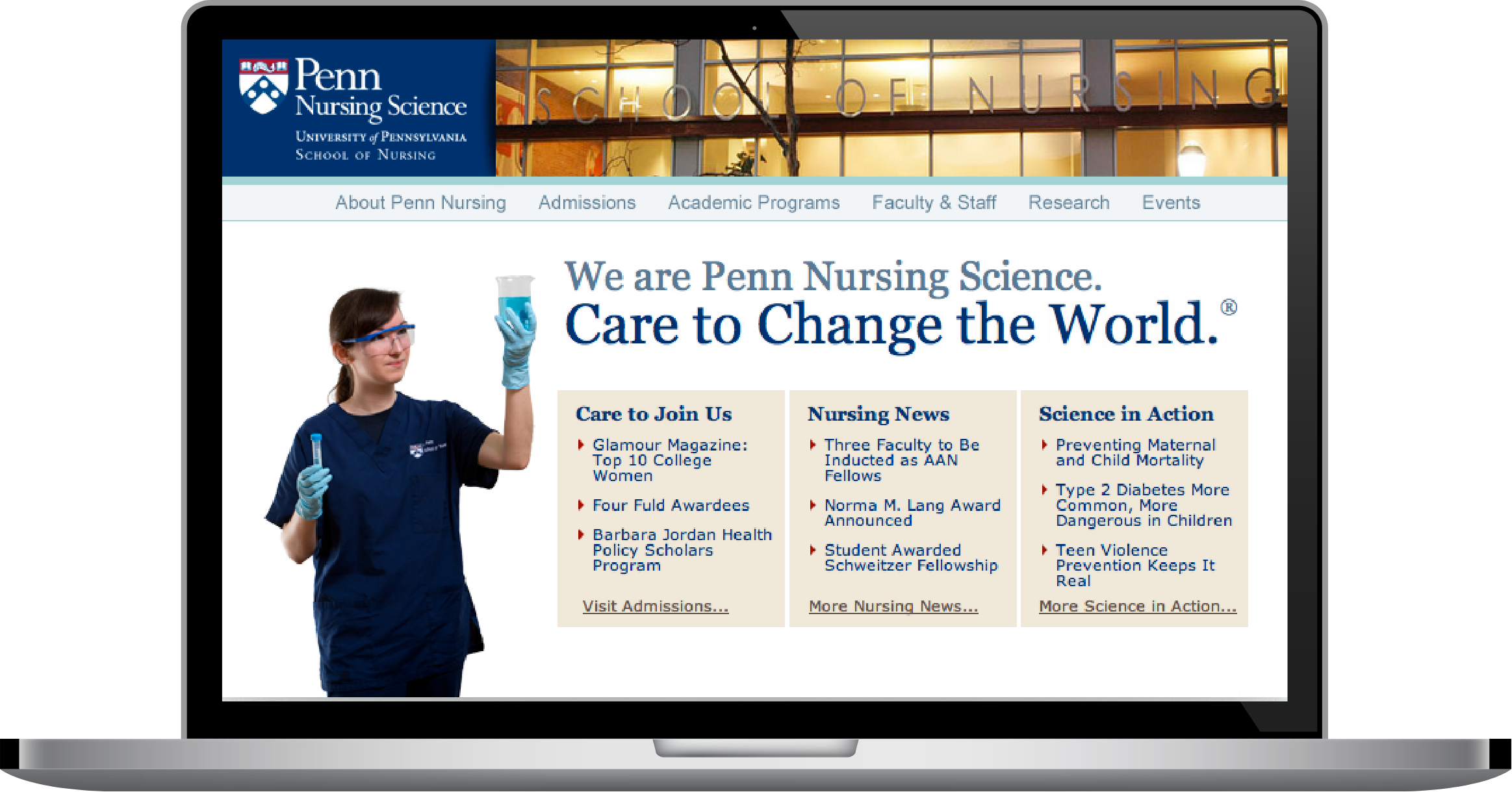 Penn Nursing website graphic
