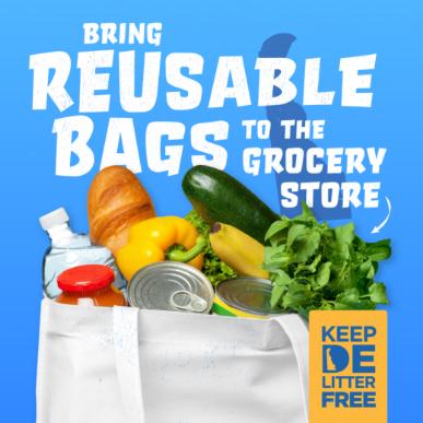 Reusable bag graphic