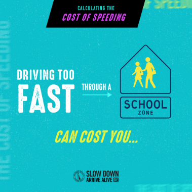 Speeding in a School Zone post