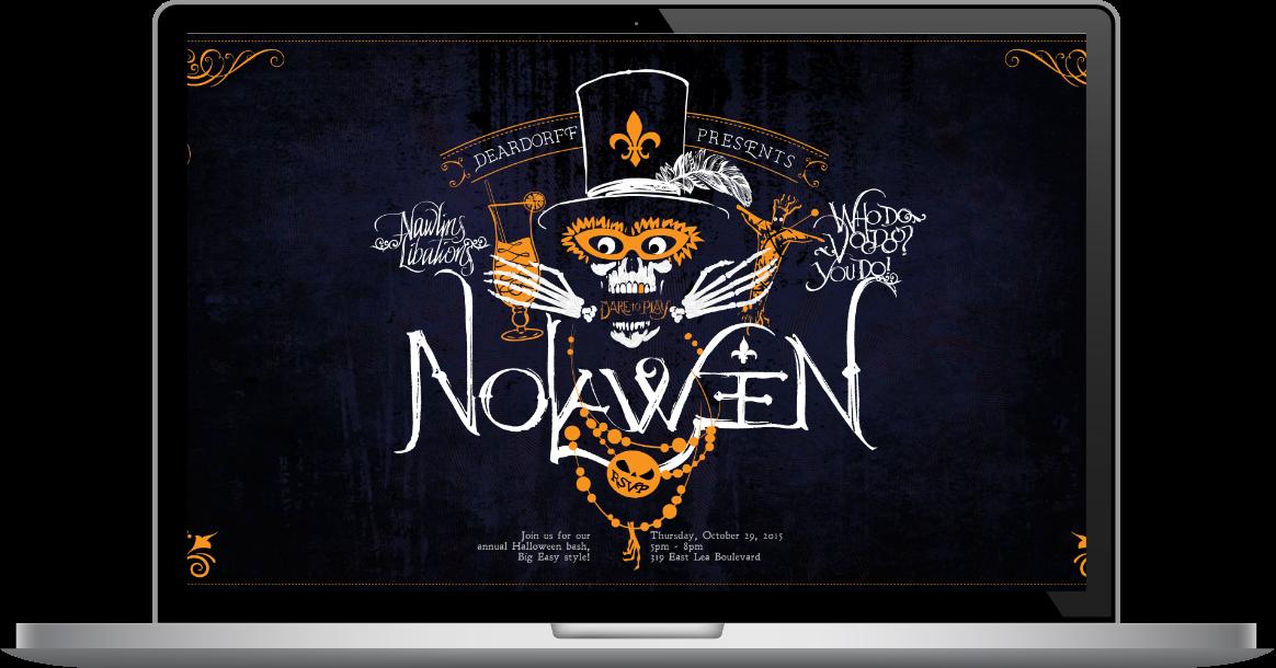 Website shown on a laptop